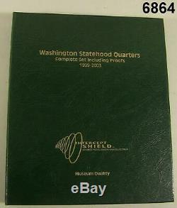 WASHINGTON STATEHOOD QUARTER SET 1999-2008 2 ALBUMS EACH With CLAD 90% SILVER#6864