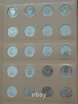 Washington Quarter Short Set 1999-2003 / 100 coins proofs & silver Dansco Album