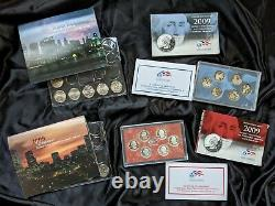 Washington Quarters Statehood 1999-2009 including MINT, Proof/Silver Proof coins