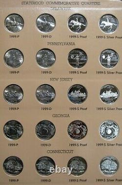 Washington Quarters Statehood Commemorative 1999-2008 Including Proof/Silver Pro