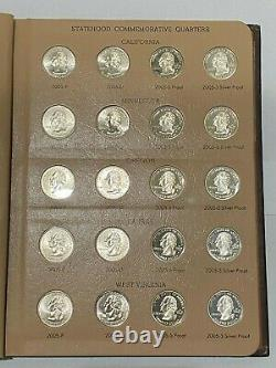 Washington Quarters Statehood Commemorative 2004-2008 with Silver Proof
