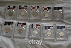 Washington State Quarters 100 Coins Complete set PCGS PR70 DCAM
