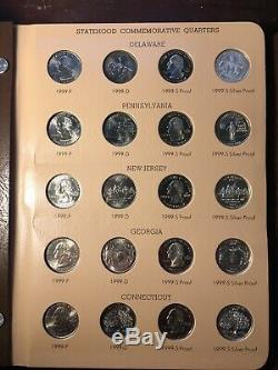 Washington Statehood Quarters Complete Set Dansco BU + Silver Proofs 1999-2008